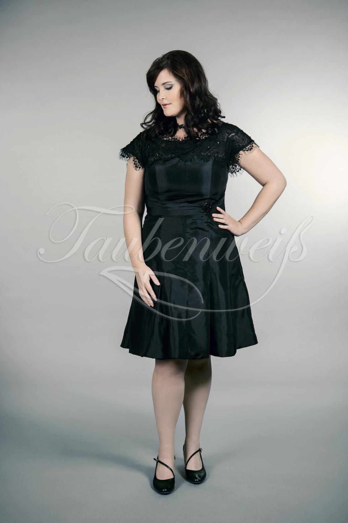 cheap for discount 4cb57 3cfad Abendkleid TW0024A - Abendkleid TW0024A Übergröße Plus XXL Große Größe Taft  schwarz kurz